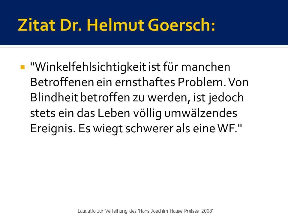 Zitat Dr. Helmut Goersch: