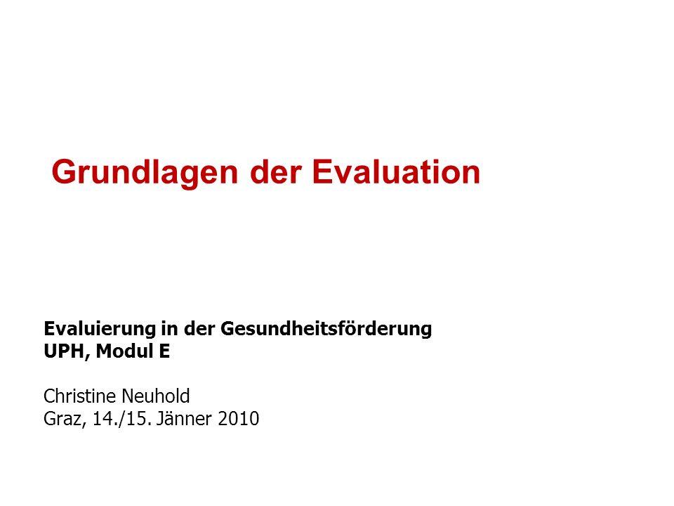 Grundlagen der Evaluation