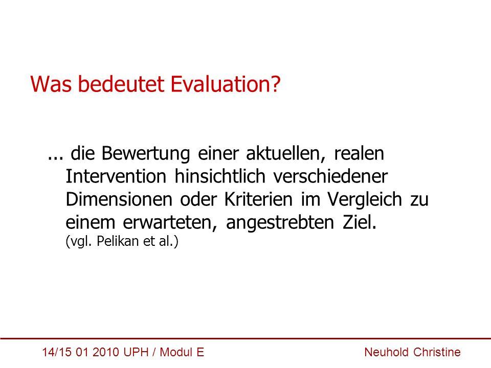 Was bedeutet Evaluation