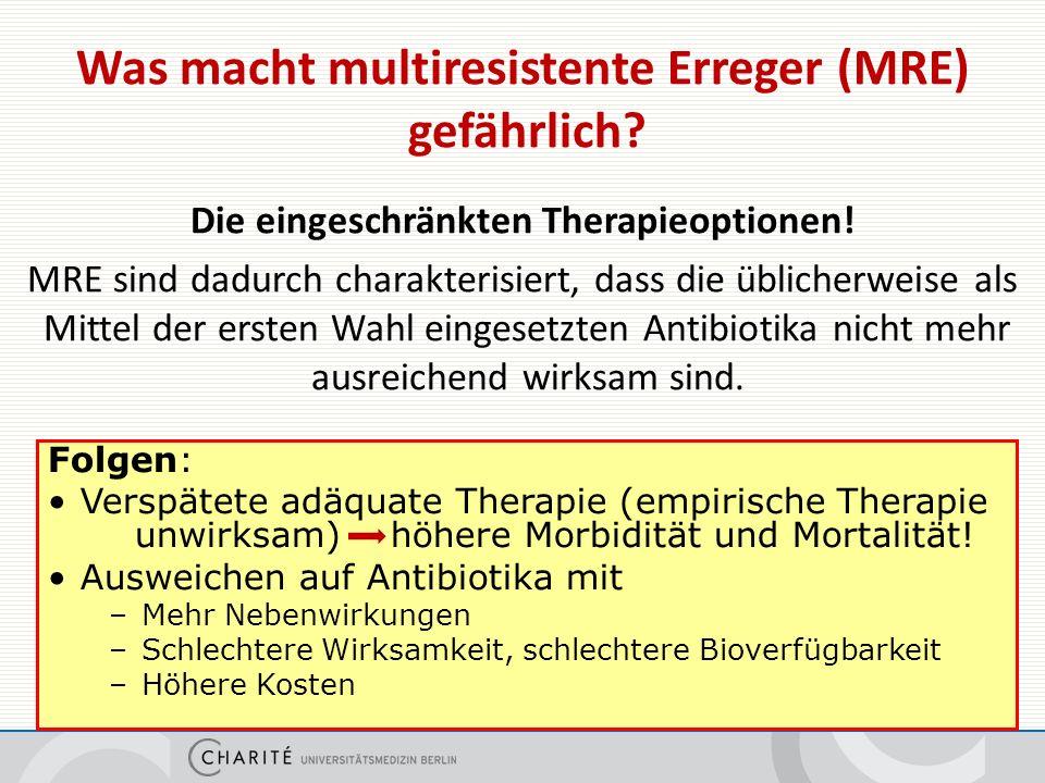 Wichtige multiresistente Erreger (MRE)