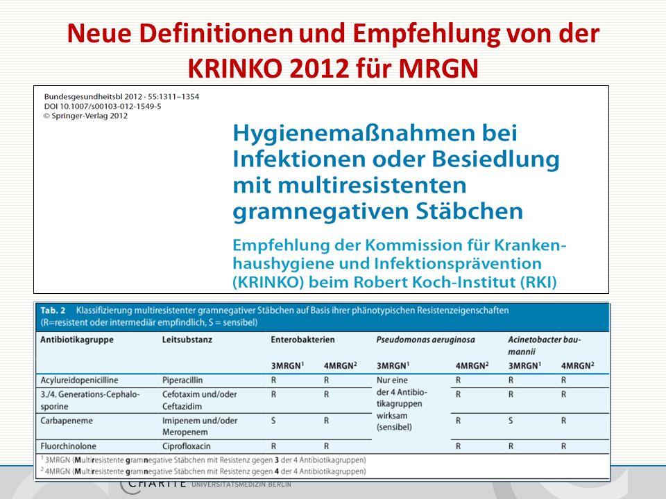 Neue Klassifikation von multiresistenten gramnegativen Erregern (MRGN)