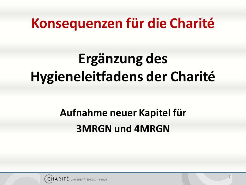 Hygienemaßnahmen an der Charité -Hygieneleitfaden-
