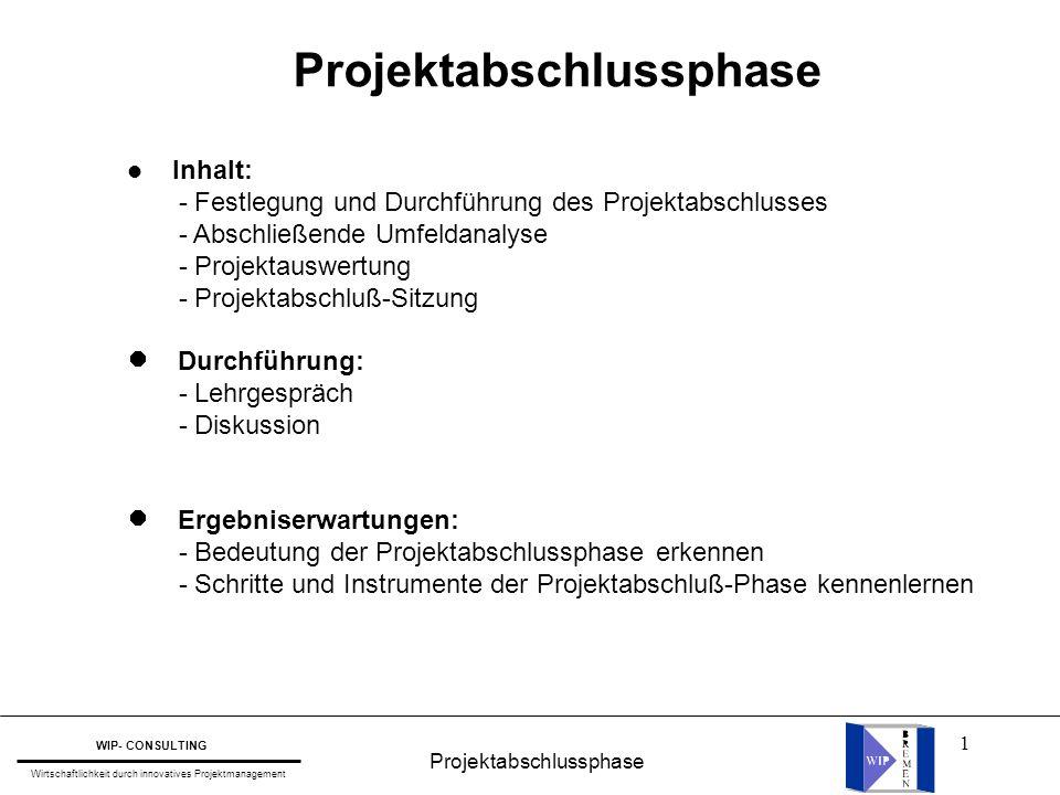 Projektabschlussphase