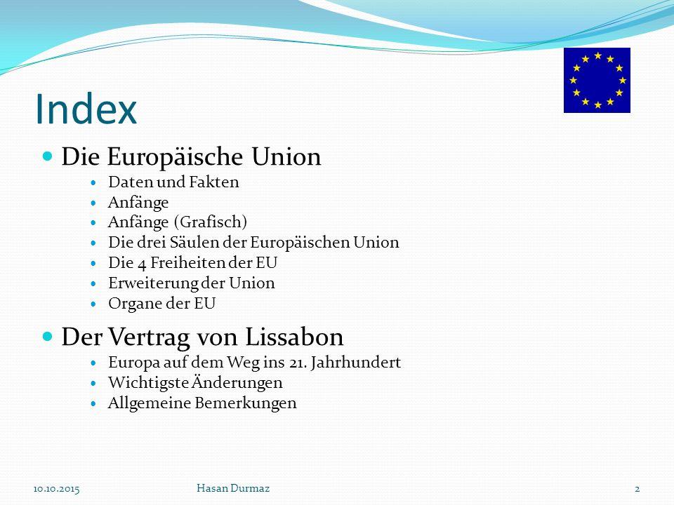 Index Die Europäische Union Der Vertrag von Lissabon Daten und Fakten