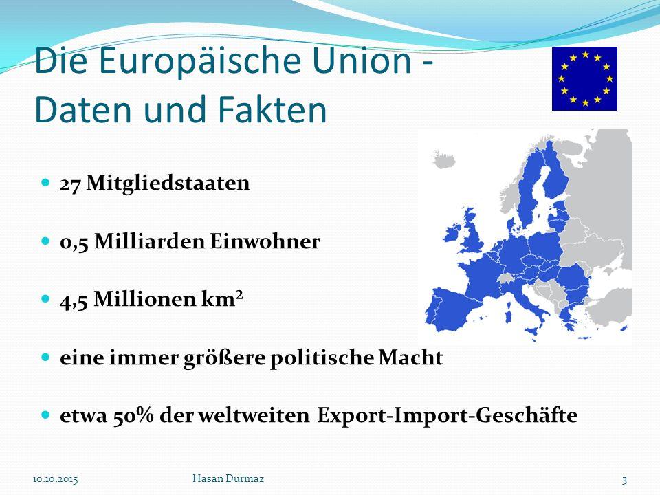Die Europäische Union - Daten und Fakten