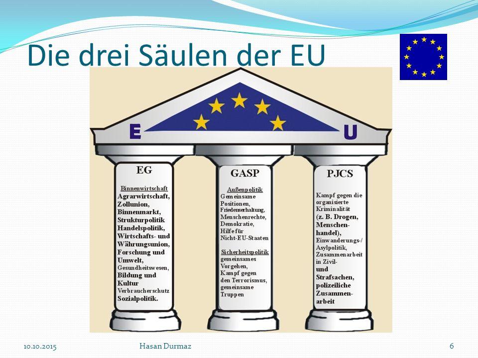 Die drei Säulen der EU 23.04.2017 Hasan Durmaz