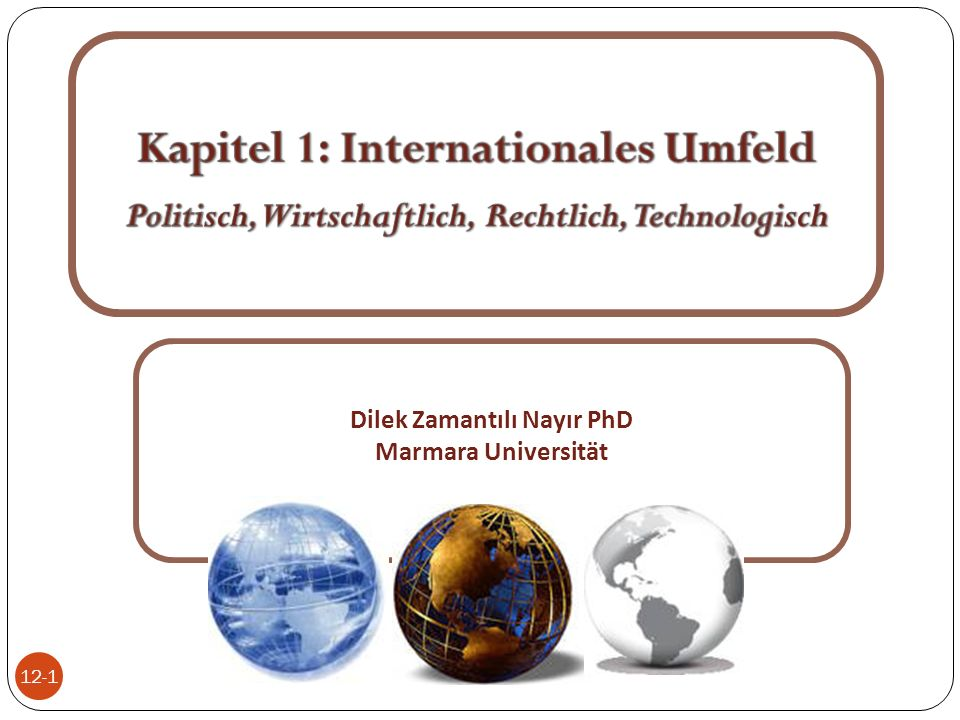 Kapitel 1: Internationales Umfeld
