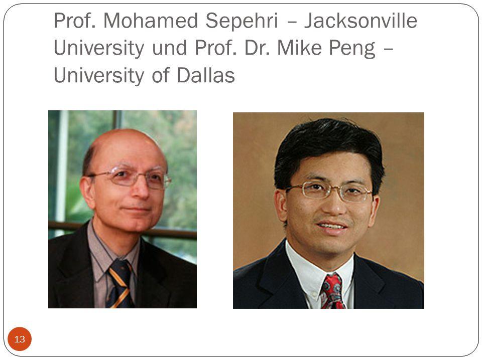 Prof. Mohamed Sepehri – Jacksonville University und Prof. Dr