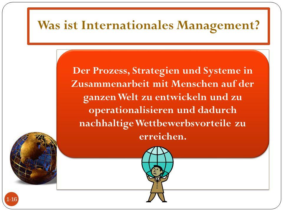Was ist Internationales Management