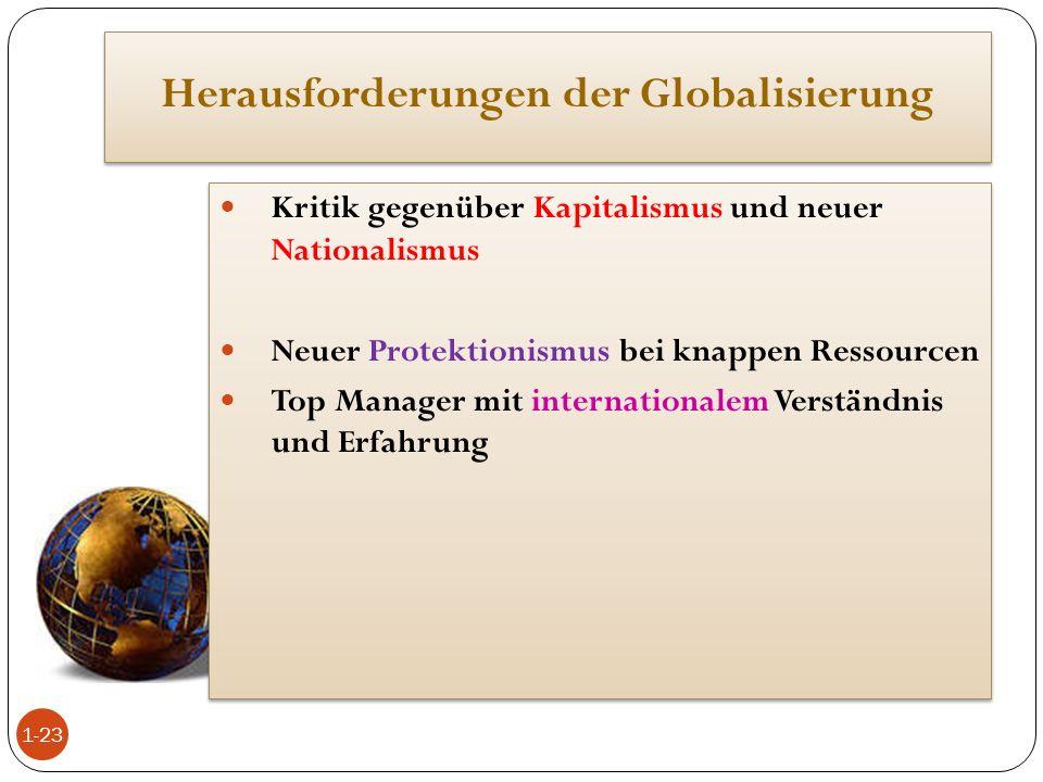 Herausforderungen der Globalisierung