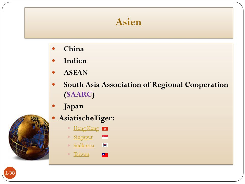 Asien China Indien ASEAN