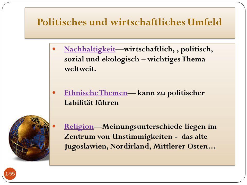Politisches und wirtschaftliches Umfeld