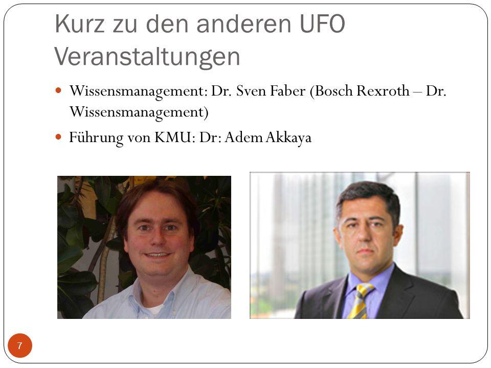 Kurz zu den anderen UFO Veranstaltungen