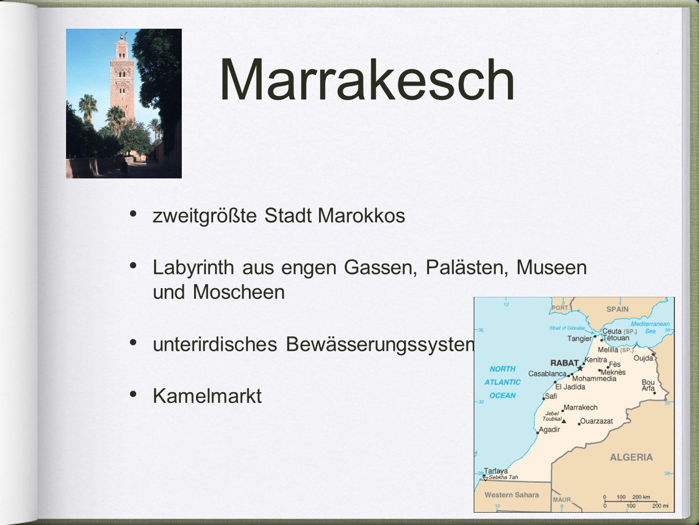 Marrakesch zweitgrößte Stadt Marokkos