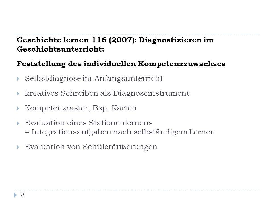 Geschichte lernen 116 (2007): Diagnostizieren im Geschichtsunterricht:
