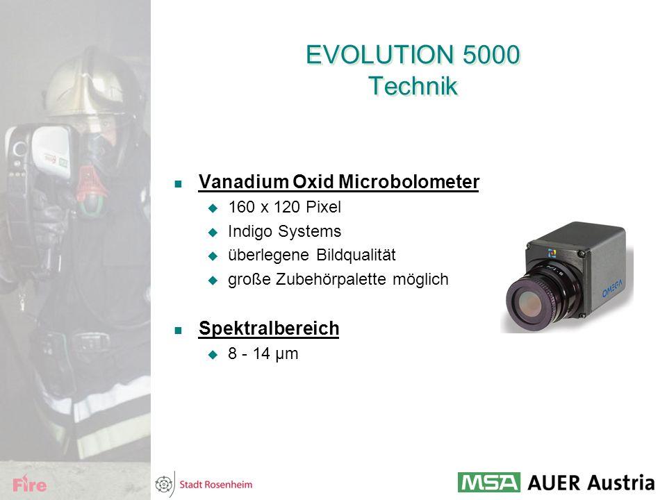 EVOLUTION 5000 Technik Vanadium Oxid Microbolometer Spektralbereich