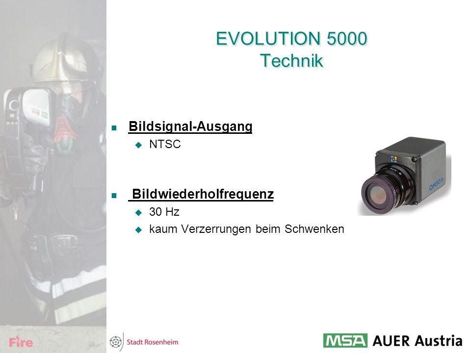 EVOLUTION 5000 Technik Bildsignal-Ausgang Bildwiederholfrequenz NTSC