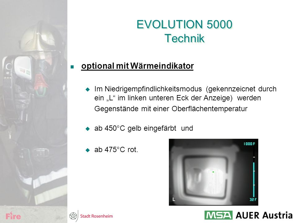 EVOLUTION 5000 Technik optional mit Wärmeindikator