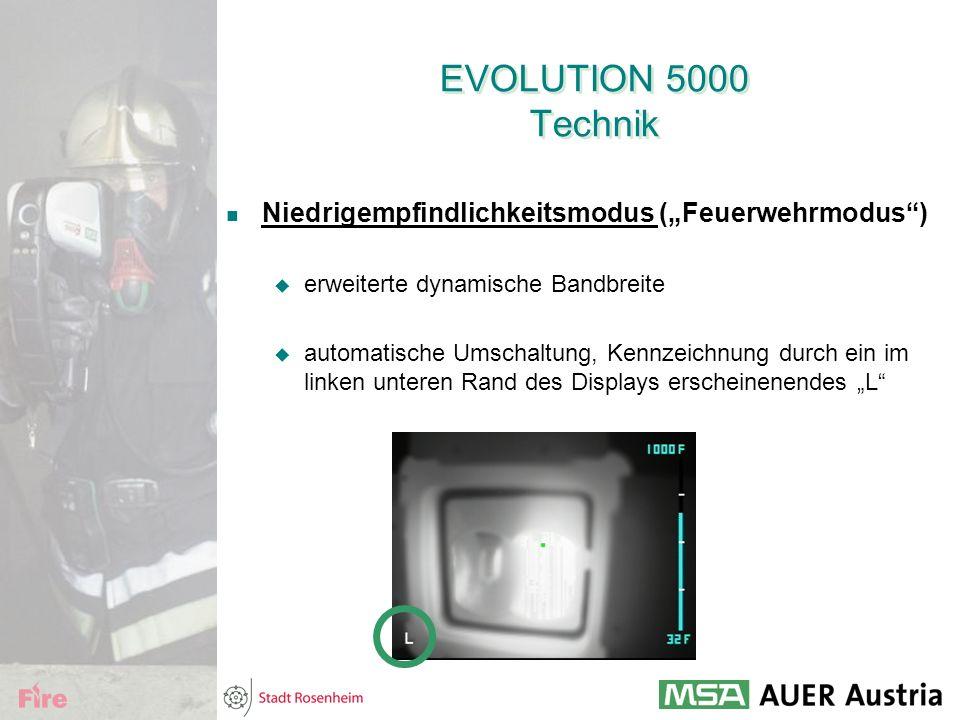 """EVOLUTION 5000 Technik Niedrigempfindlichkeitsmodus (""""Feuerwehrmodus )"""