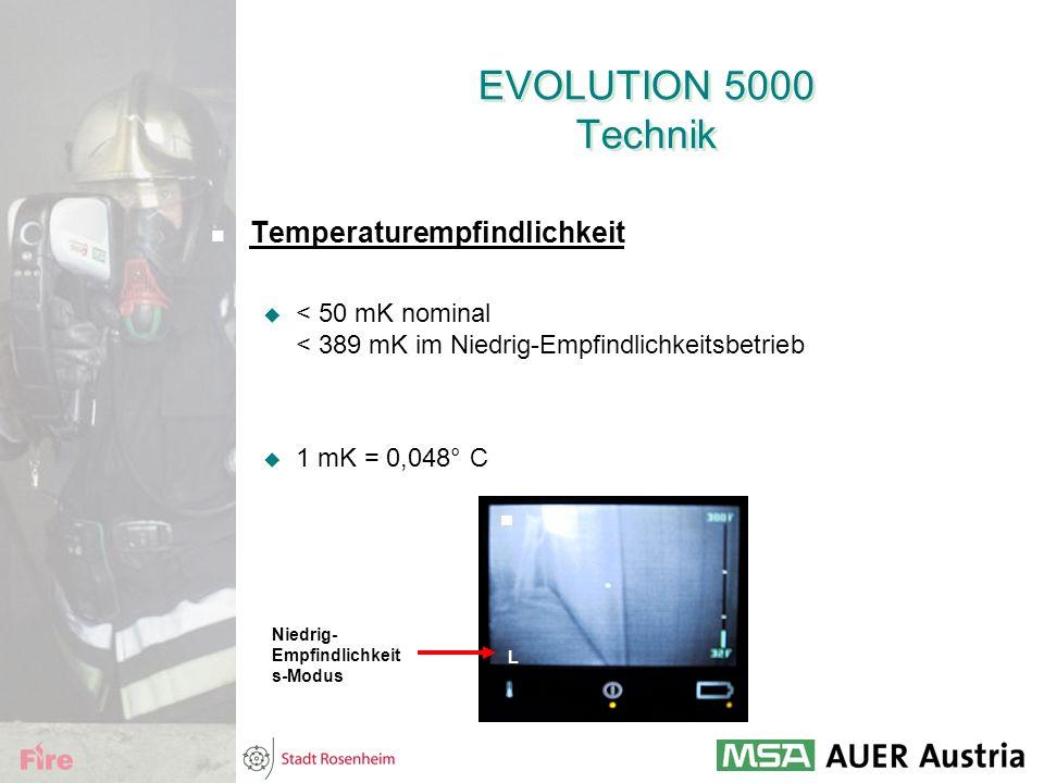 EVOLUTION 5000 Technik Temperaturempfindlichkeit
