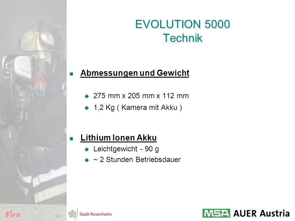EVOLUTION 5000 Technik Abmessungen und Gewicht Lithium Ionen Akku