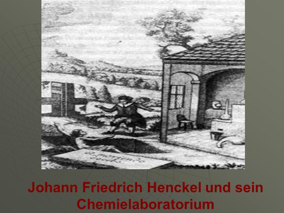 Johann Friedrich Henckel und sein Chemielaboratorium