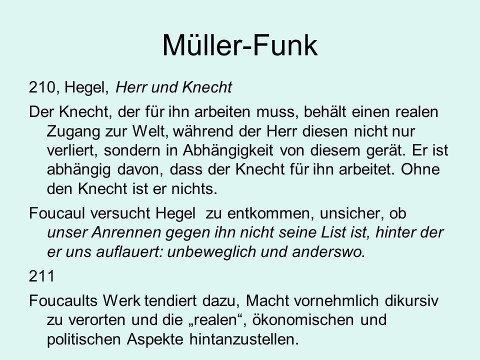 Müller-Funk 210, Hegel, Herr und Knecht