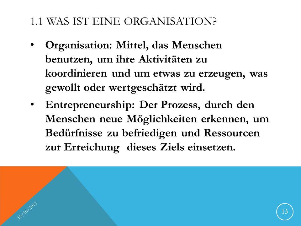 1.1 Was ist eine Organisation