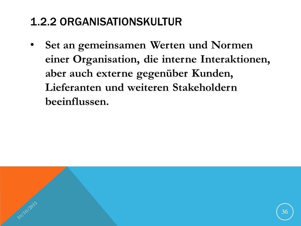 1.2.2 Organisationskultur