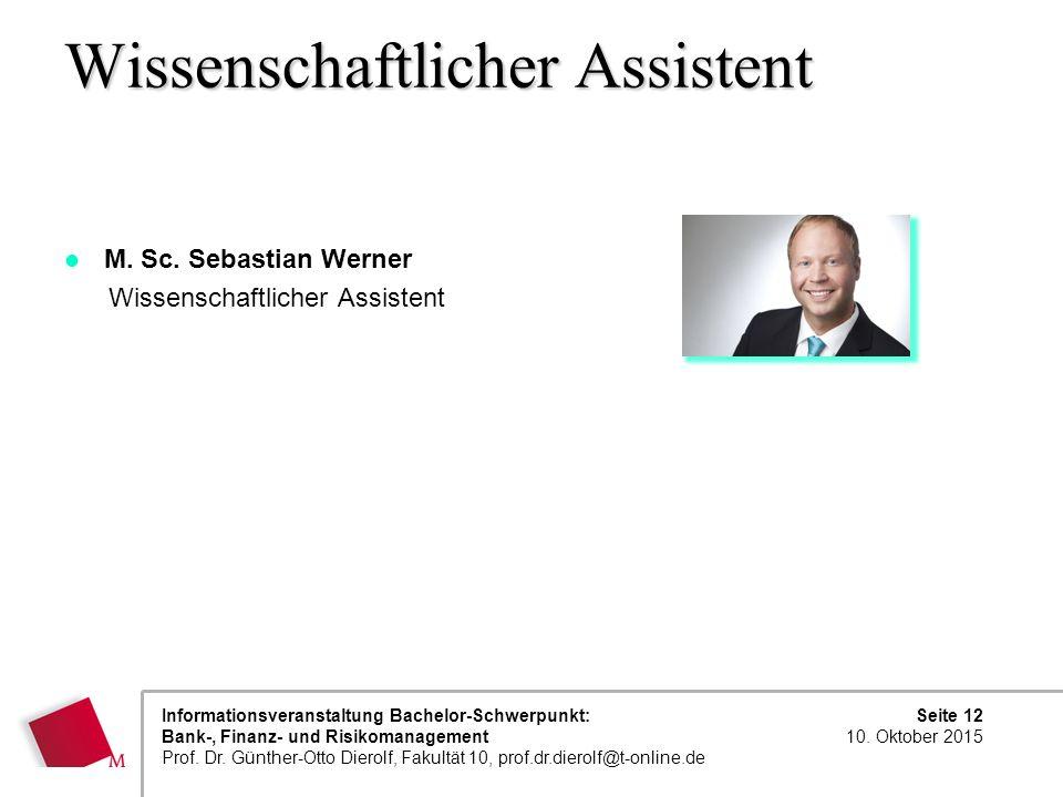 Wissenschaftlicher Assistent
