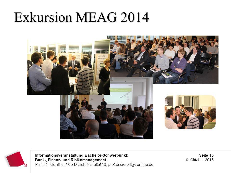 Exkursion MEAG 2014 23.04.2017 Sebastian Werner, Fakultät 10, sebastian.werner@hm.edu