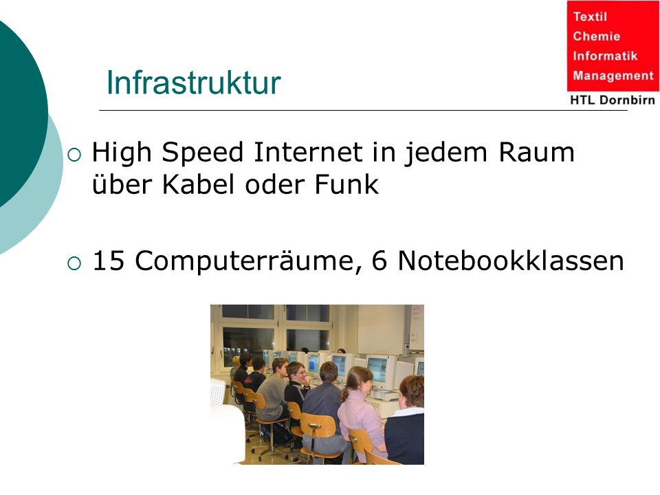 Infrastruktur High Speed Internet in jedem Raum über Kabel oder Funk