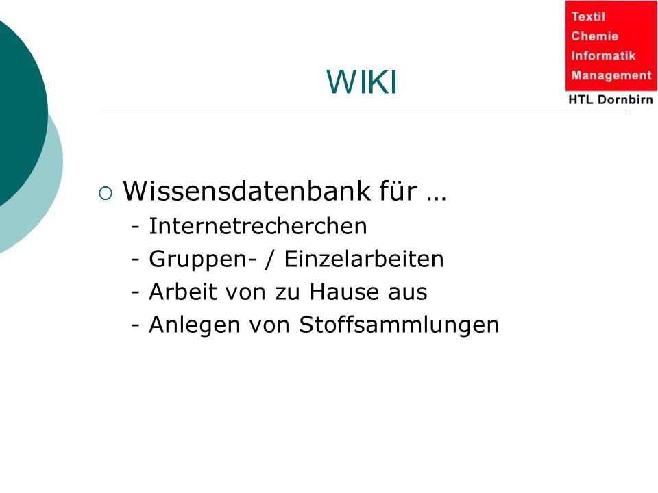 WIKI Wissensdatenbank für … - Internetrecherchen