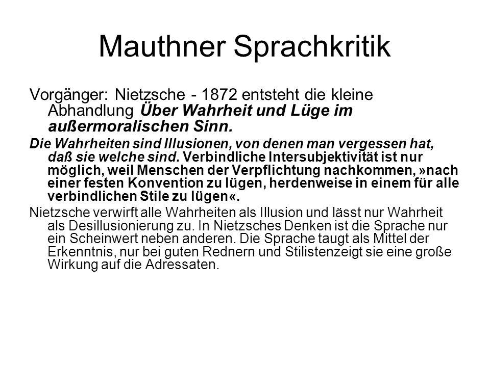 Mauthner Sprachkritik