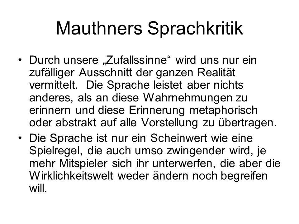 Mauthners Sprachkritik