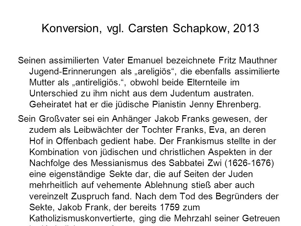 Konversion, vgl. Carsten Schapkow, 2013