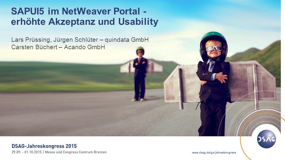 SAPUI5 im NetWeaver Portal - erhöhte Akzeptanz und Usability