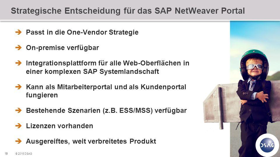 Strategische Entscheidung für das SAP NetWeaver Portal