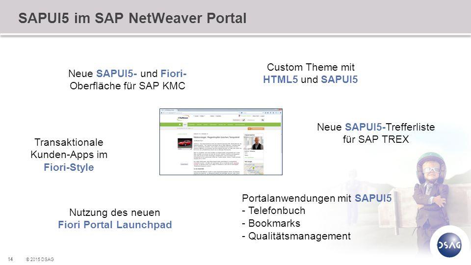 SAPUI5 im SAP NetWeaver Portal