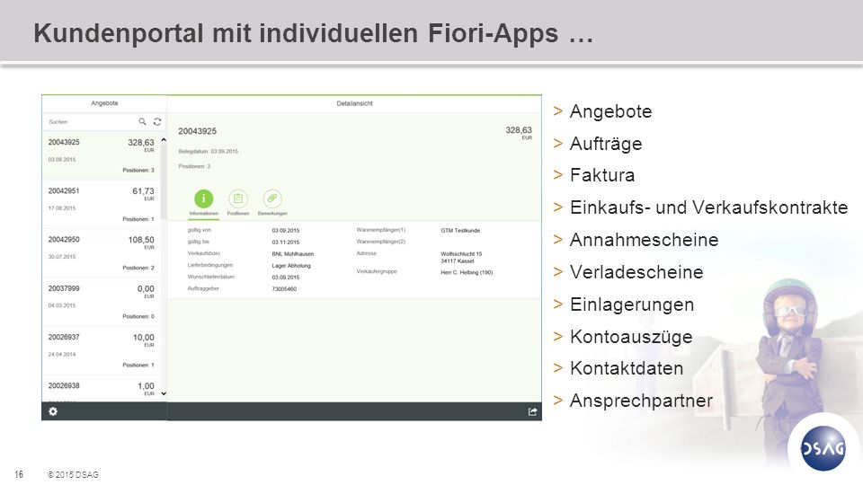 Kundenportal mit individuellen Fiori-Apps …