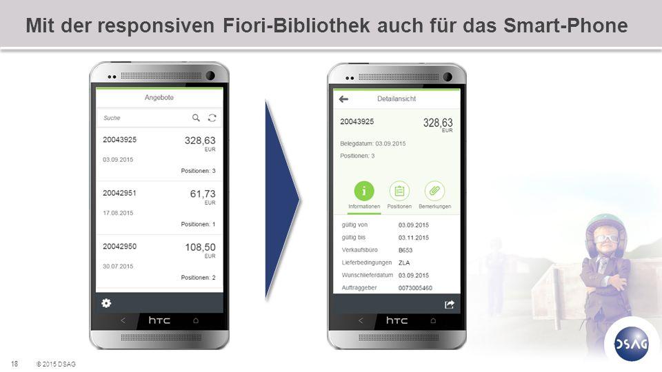 Mit der responsiven Fiori-Bibliothek auch für das Smart-Phone