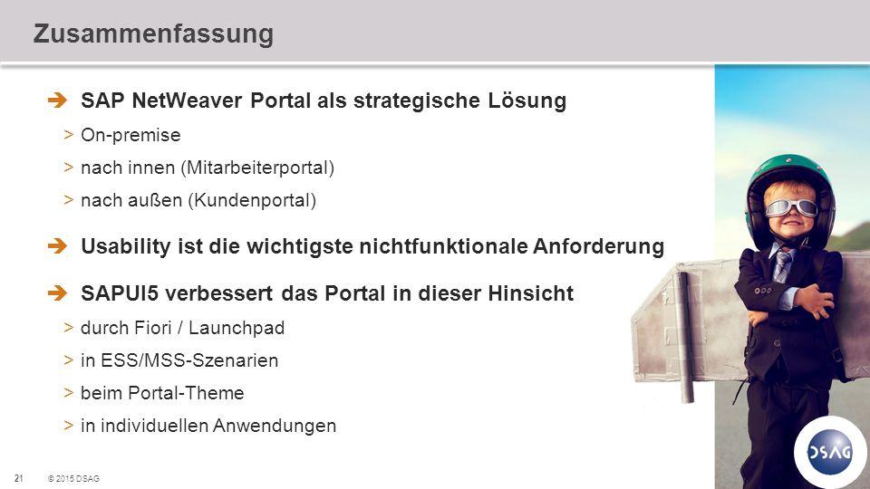Zusammenfassung SAP NetWeaver Portal als strategische Lösung