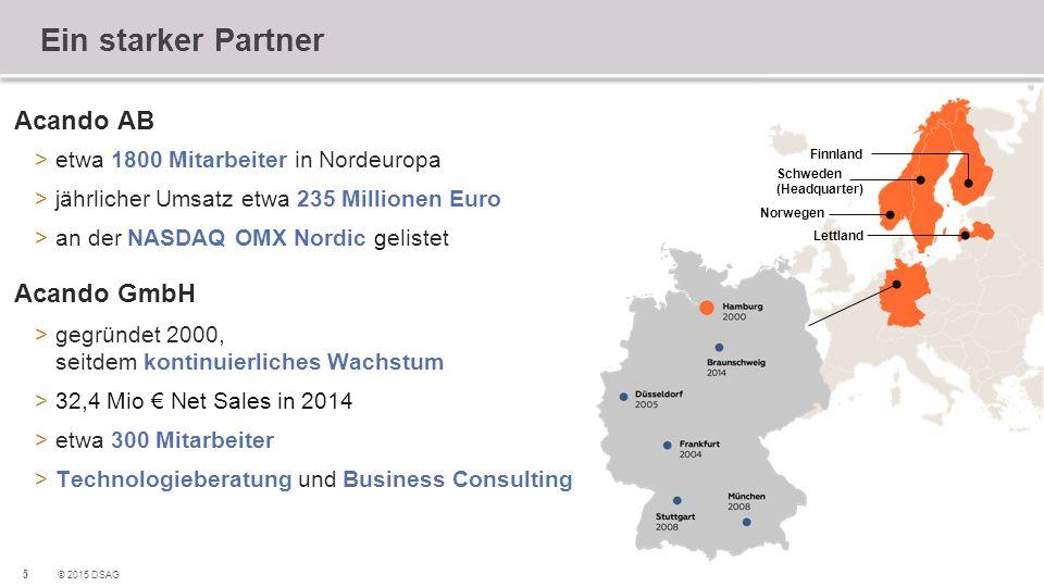 Ein starker Partner Acando AB Acando GmbH