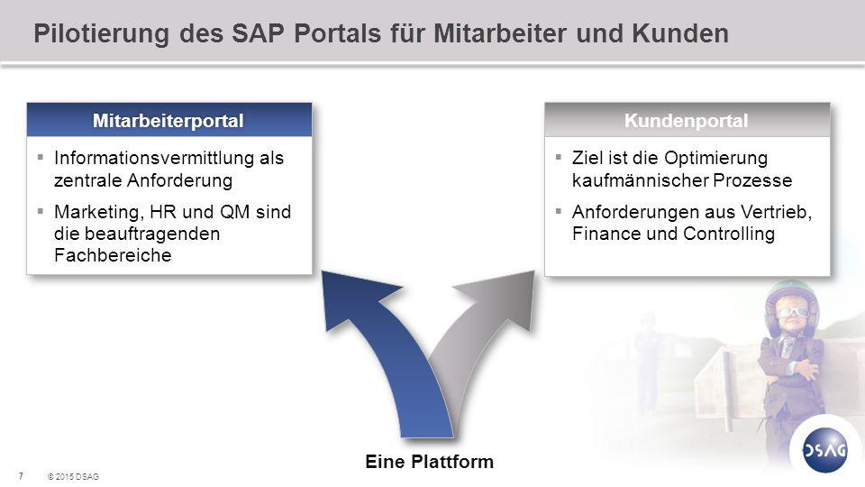 Pilotierung des SAP Portals für Mitarbeiter und Kunden