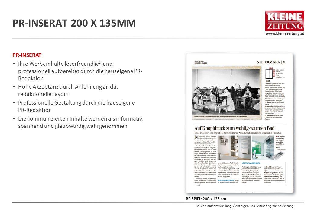 PR-Inserat 200 x 135mm PR-INSERAT