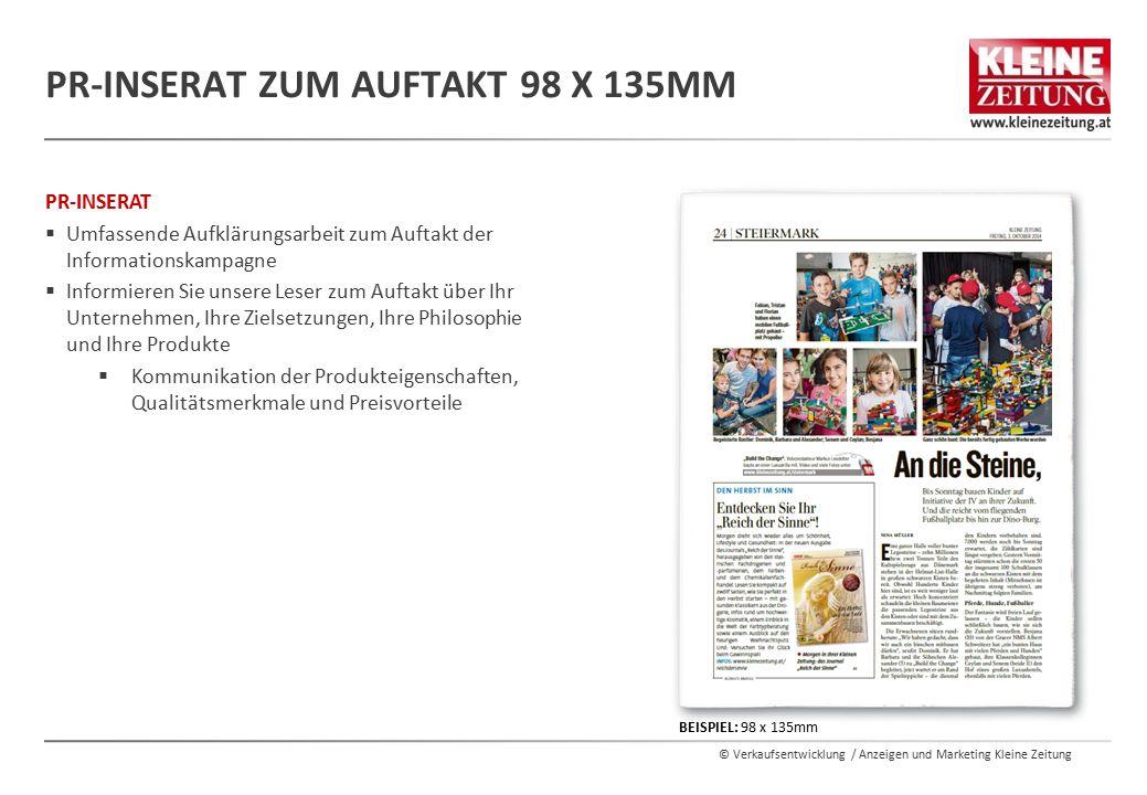 PR-Inserat Zum Auftakt 98 x 135mm
