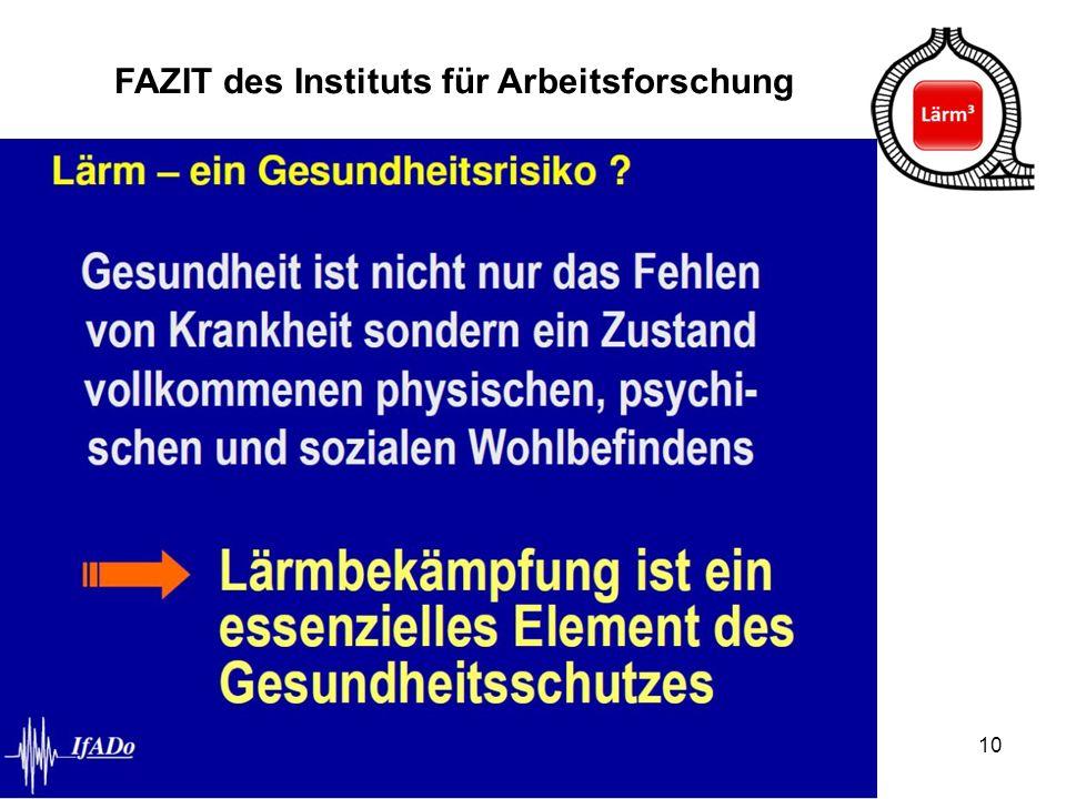 FAZIT des Instituts für Arbeitsforschung
