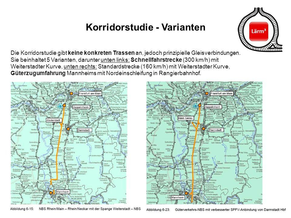 Korridorstudie - Varianten
