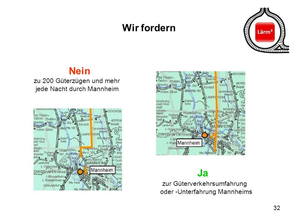 Wir fordern Nein zu 200 Güterzügen und mehr jede Nacht durch Mannheim