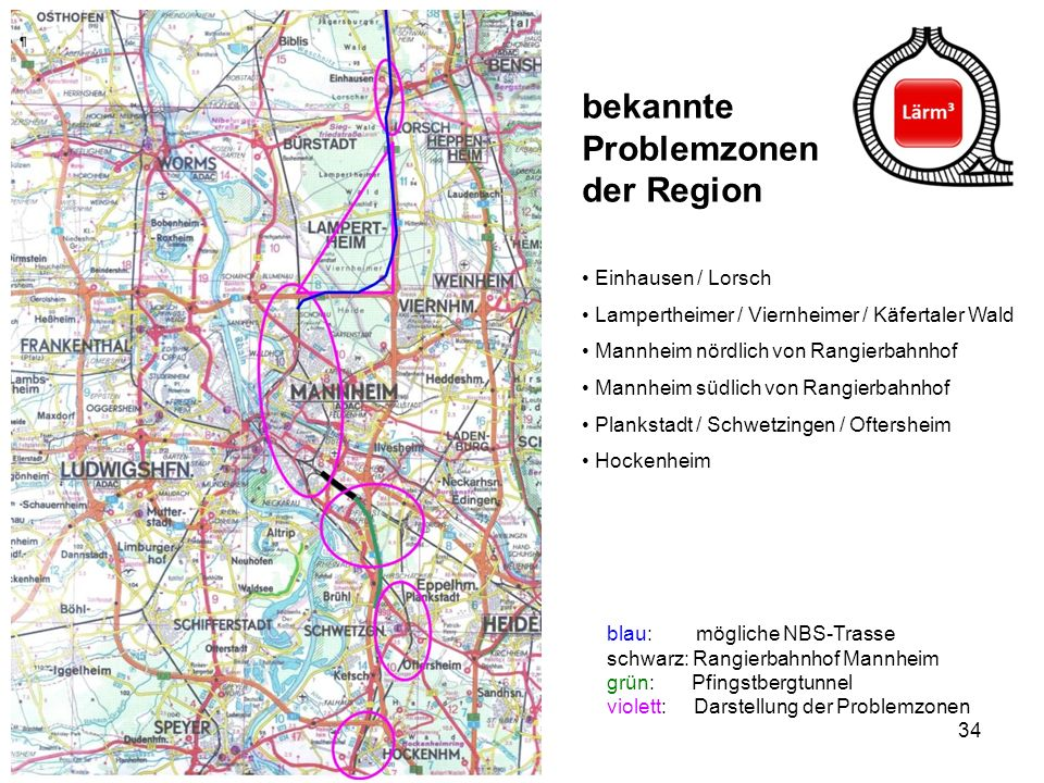 bekannte Problemzonen der Region